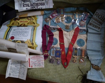 large masonic bundle inc silver medals ect