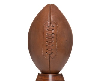 Handmade Brown Leather Vintage Style American football