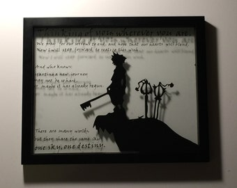 "Gaming Framed Art- Kingdom Hearts ""Thinking of You"""