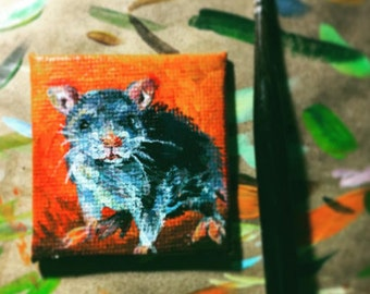 Mouse mini painting magnet