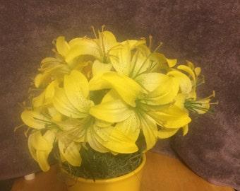 Yellow flowers pot  #299