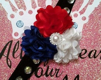 6-12 Months Red White and Blue Headband