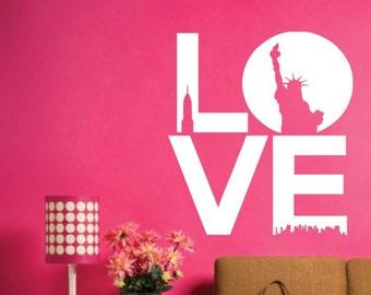 LOVE New York Modern Landscape Art Wall Stickers