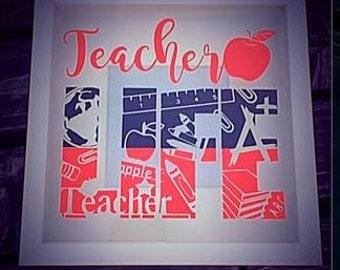 Teacher Life Teacher Gift Frame