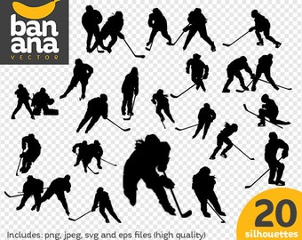 SALE Ice Hockey Women Silhouettes png jpg svg eps files high resolution BV-SP-0027