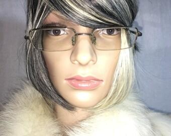 Vintage 1970's Menrad Black Metal Eyeglasses