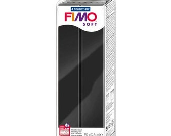 1 Block of Staedtler 350 grams Black Fimo Soft Polymer Clay
