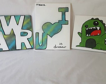 Rawr canvas painting