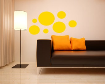 Circles decorative wall decal