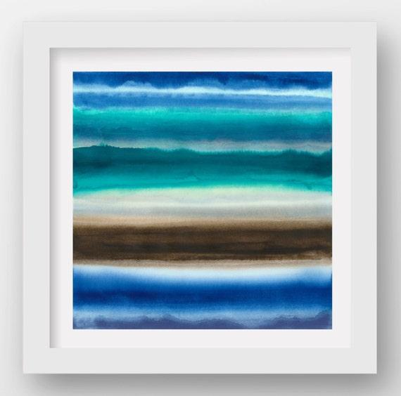 COLOR + RAIN WEDNESDAY, limited edition giclee art print, rain art, abstract wall art, modern art print