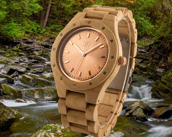 Wood Watch, Womens Watch, christmas Gift for women, wood jewel, Girlfriend Gift, Anniversary Gift, ladies  watch, Personnalized jewel , KO24