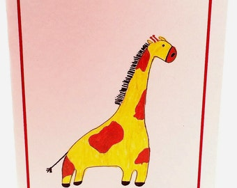 Adorable giraffe card