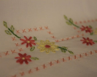 Set of Embroidered Pillow Cases