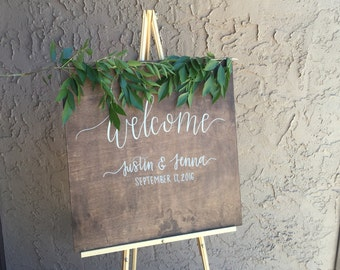 Wedding Welcome Sign| Wooden Welcome Sign| Welcome Sign
