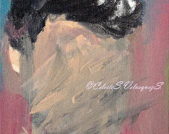 Title:Cutting Matter Original Acrylic  Painting, Fine Art Print, Premium Giclee Paper, 8x10, 8x8