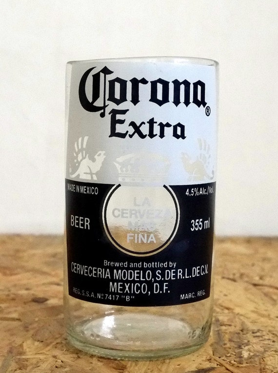 Beer bottle drinking glasses corona light extra tumblers set for How to make corona glasses