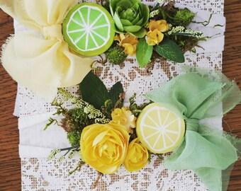 Lemon Drop Garden Headwrap