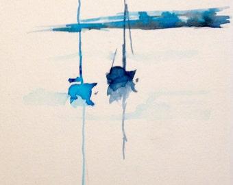 Cornish Sailing Boats: Blues