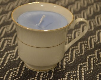 Lavender Scented Candle in Tea Cup