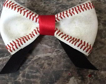 Baseball hair bow