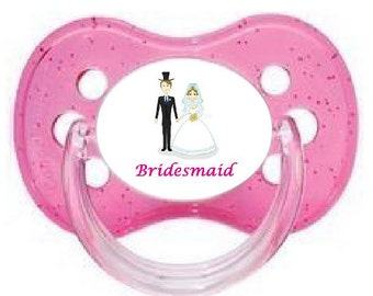 UNIQUE Dummy Pacifier Soother, All Teats, Sizes & Colours, BRIDESMAID 8