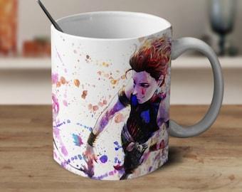 Hisoka, Hunter X Hunter, Coffee Mug, Anime Mug, Watercolor Mug, Anime Coffee Mug, Color Changing Mug,