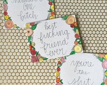 Trio of Blank Greeting Cards- Blank
