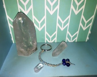 Hemp Keychain with Lapis Beads