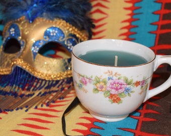 Emerald Tea Cup Candle