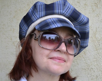 Newsboy Hat Sewing Pattern - Two Women's Sizes – PDF