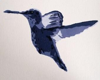 Hummingbird Stencil Painting