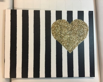 Glitter Heart Canvas