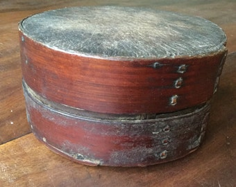 Rare 19th century Americana folk art box/american folk art
