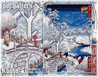 Meguro - Cross stitch pattern PDF - Instant download
