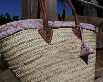 Straw basket and its liberty Eloise cover