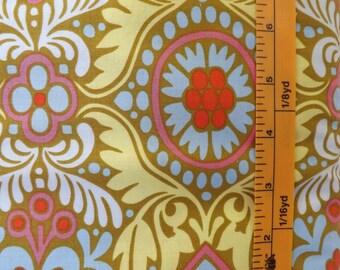 Rowan Fabrics, Amy Butler, Belle, Kashmir, PWAB114, Okra, quilting fabric