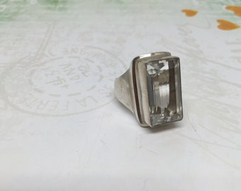 Clear Quartz ring in Sterling silver