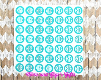12X12 Sheet of Personalized Monograms
