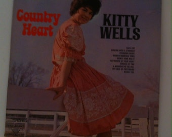 Vintage Country Music Album, Kitty Wells, Country Heart, Each Day, Stubborn Heart, Honky Tonk Waltz, Divided By Two, Country Music Legend