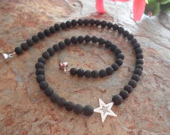 Lava necklace Silver Star
