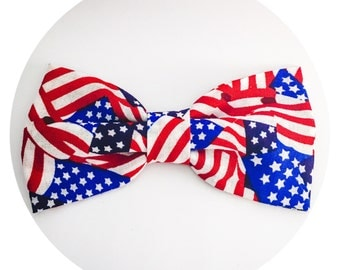Patriotic pet bow tie