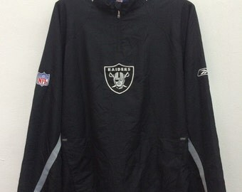 Vintage Raiders Football NFL Trench Coats Pullover Jacket Size XL