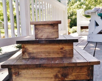 Rustic Cake Stand/ Cupcake Stand