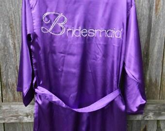 Bridesmaid satin robe