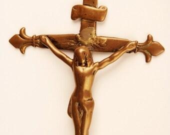 1700 's brass crucifix