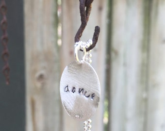Dance. Free Spirit. From the Soul. Sterling Silver Handmade Necklace.