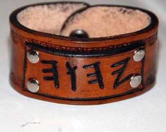 Paleo YHWH Leather Bracelet