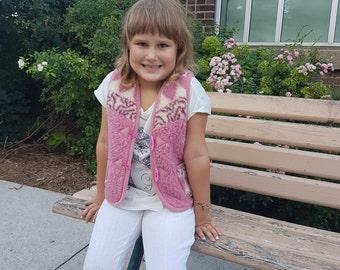 organic wear;kids vest; kids wear; woolen vest;kids clothing; handmade vest; kids gift;