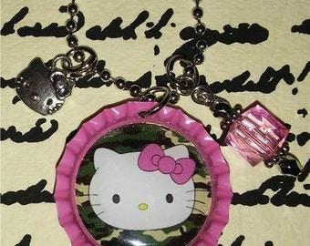 Camo Hello Kitty Necklace