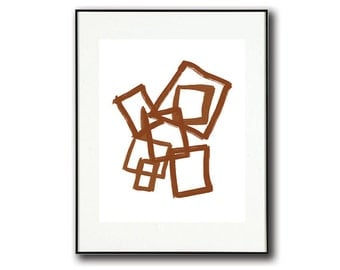 Brown and White #4 Minimalist Abstract Art | Instant Download | Print at Home
